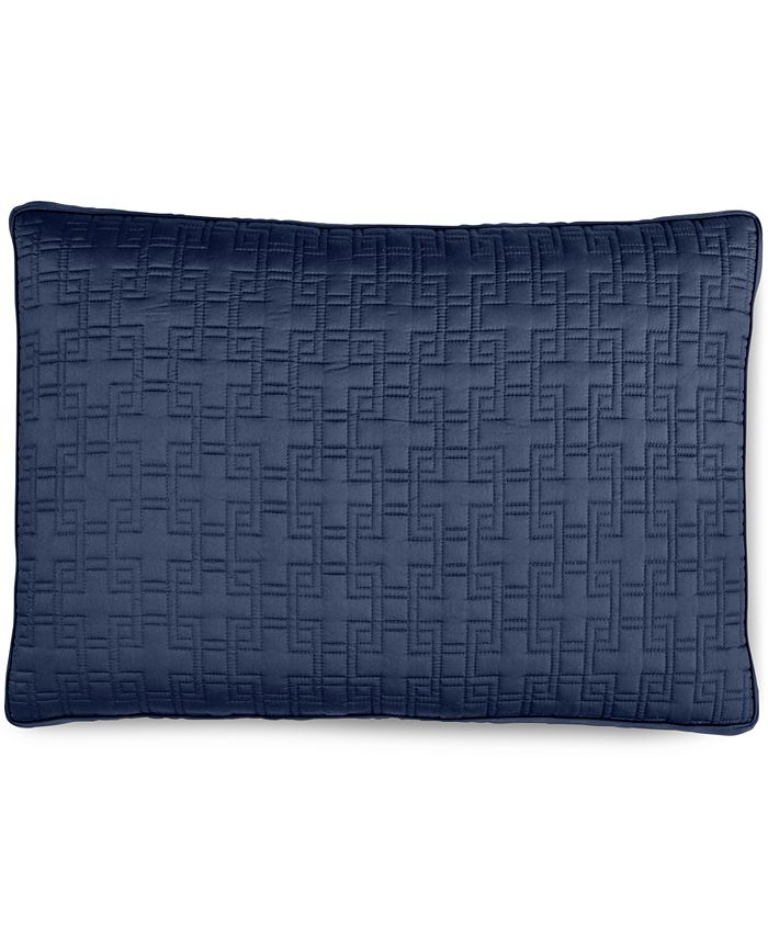 Hotel Collection - Embroidered Frame Quilted Standard Sham