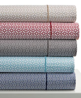 Hotel Collection 525 Thread Count Printed Queen Sheet Set, Only at Macy's