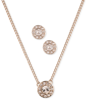 Givenchy Rose-Gold Tone Earring and Necklace Set