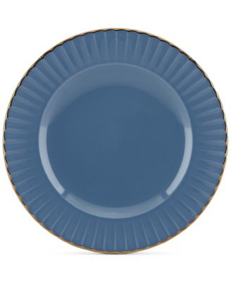 Marchesa by Lenox Dinnerware Ironstone Shades of Blue Accent Plate