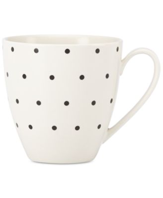kate spade new york Larabee Dot Cream Collection Stoneware Mug