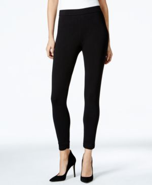 Style & Co. Faux-Leather-Trim Leggings