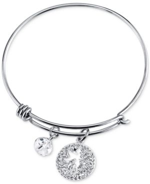 Disney Tinker Bell Crystal Charm Bracelet in Stainless Steel