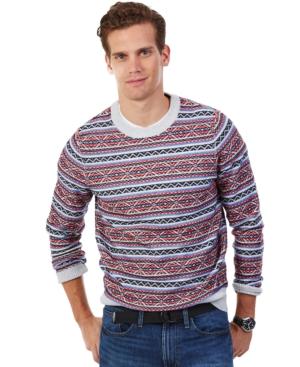 Nautica Heathered Fair Isle Sweater