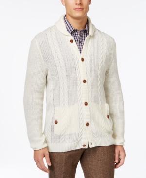 Tasso Elba Shawl-Collar Cable-Knit Cardigan Only at Macys $59.99 AT vintagedancer.com