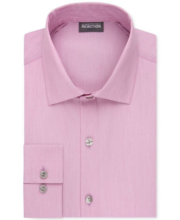 Kenneth Cole Reaction - Slim-Fit Techni-Cole Flex Collar Solid Dress Shirt