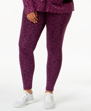 Ideology Plus Size Active Printed Leggings-and-Headband Set, Only at Macy's