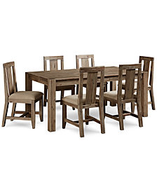 """Canyon 7 Piece Dining Set, Created for Macy's,  (72"""" Dining Table & 6 Side Chairs)"""