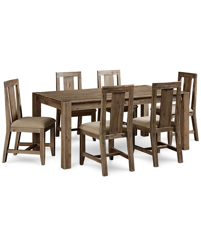 Furniture Canyon 7 Piece Dining Set Created For Macy S 72 Dining Table 6 Side Chairs Reviews Furniture Macy S