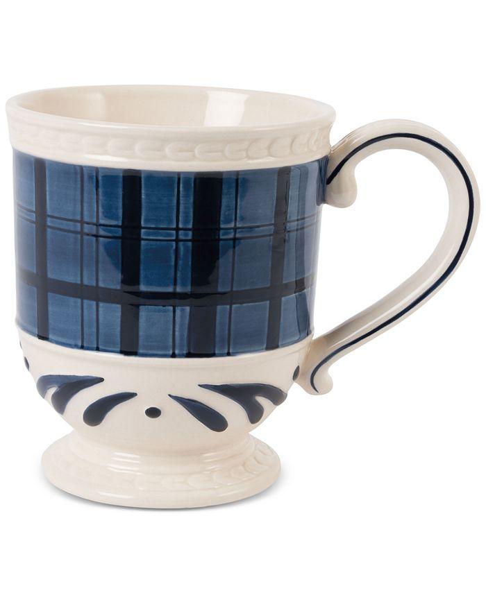 Fitz and Floyd - Stoneware Bristol Indigo Tartan Mug