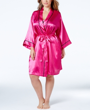 Morgan Taylor Plus Size Contrast-Trim Robe