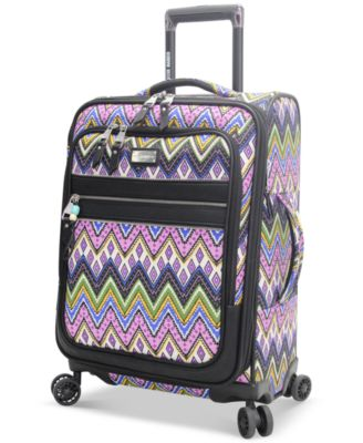 "Steve Madden Patchwork 21"" Expandable Carry On Spinner Suitcase, Only at Macy's"