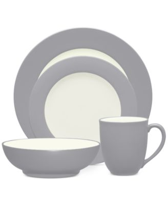 Noritake Colorwave Slate Stoneware 4-Pc. Rim Place Setting, A Macy's Exclusive Style
