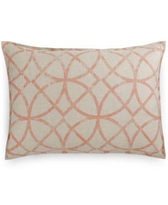 Hotel Collection Textured Lattice Linen King Sham, Only at Macy's