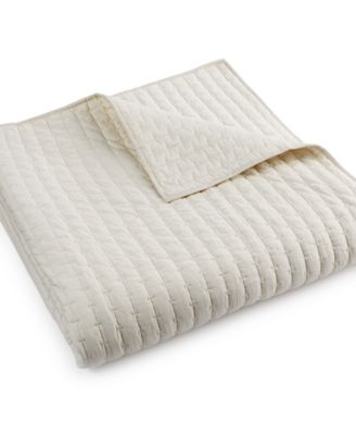 Hotel Collection Modern Eyelet Quilted Full/Queen Coverlet, Only at Macy's