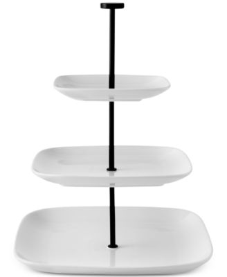 The Cellar Ceramic & Iron 3-Tier Square Coupe Server, Only at Macy's