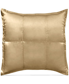CLOSEOUT! Donna Karan Home Reflection Gold Dust Quilted Silk European Sham