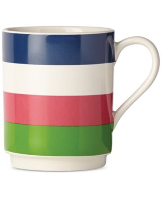 kate spade new york all in good taste Striped Mug, Only at Macy's