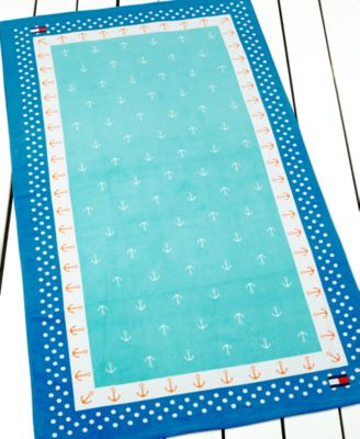 Tommy Hilfiger Anchor Polka Dot Beach Towel