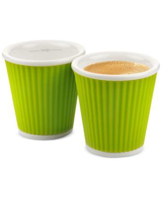 Les Artistes 2-Pc. Green Espresso Shot Glasses