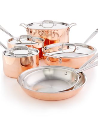Martha Stewart Collection Tri-Ply Copper 10-Pc. Cookware Set, Only at Macy's