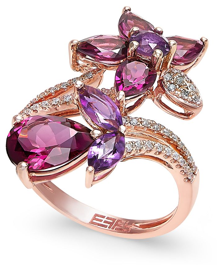 EFFY Collection - Multi-Stone Flower Ring in 14k Rose Gold (5-1/4 ct. t.w.)