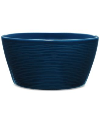 Noritake Navy-On-Navy Swirl Soup/Cereal Bowl