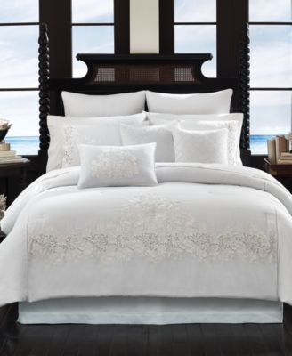 Tommy Bahama Home Heirloom Embroidery Queen Comforter Set