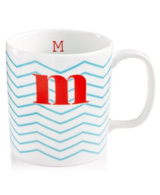 "The Cellar Chevron Initial Mug Collection ""M"" Mug, Only at Macy's"