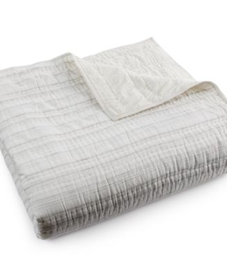 Hotel Collection Linen Fog Quilted King Coverlet, Only at Macy's