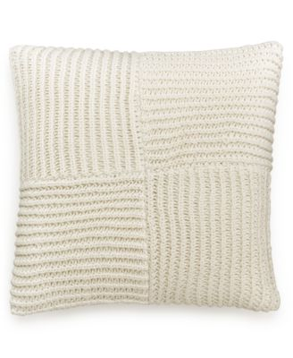 "Hotel Collection Waffle Weave 20"" Square Decorative Pillow, Only at Macy's"