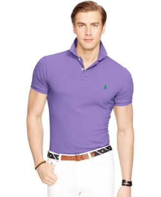 Image of Polo Ralph Lauren Men's Slim-Fit Mesh Polo Shirt