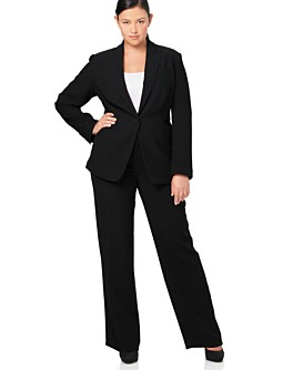 Macy*s - Women's - Calvin Klein Woman One-Button Suit Jacket & Pant :  calvin pant suit women