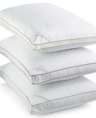 Image of Calvin Klein Tossed Logo Print Extra Firm Down Alternative Gusset Standard Pillow, Hypoallergenic