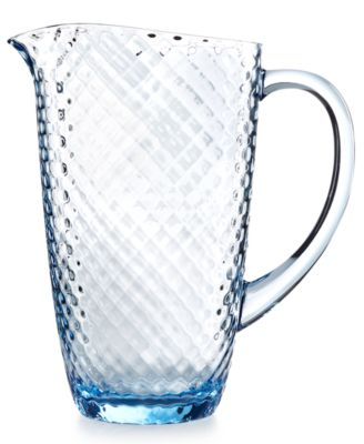 Home Design Studio Blue Acrylic Drinkware Collection Pitcher, Only at Macy's