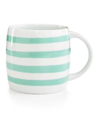 Martha Stewart Collection Whim Mugs Collection Mint Stripe Mug, Only at Macy's