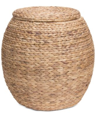 Household Essentials Large Water Hyacinth Storage Basket