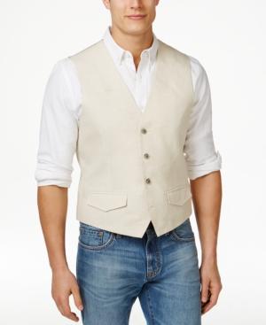 Men's Vintage Inspired Vests Tasso Elba Mens Big  Tall Linen Vest Only at Macys $31.99 AT vintagedancer.com