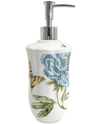 Lenox Blue Floral Garden Lotion Dispenser
