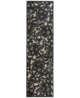 "Nourison Area Rug, East Hampton Gothic Lace Pewter 2'3"" x 8' Runner Rug"