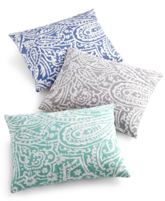 "Charter Club Damask Designs Paisley 14"" x 18"" Decorative Pillow, Only at Macy's"