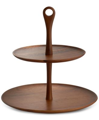 Namb® Skye Dinnerware Collection by Robin Levien Wood Tiered Dessert Stand