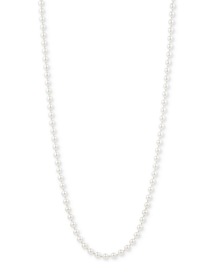 Anne Klein - Gold-Tone Imitation Pearl Long Length Necklace