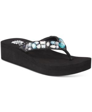 Yellow Box Zalora Rhinestone Wedge Flip-Flops Women's Shoes