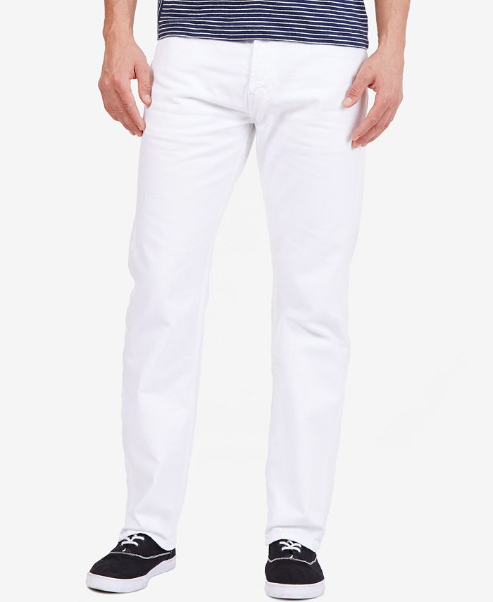 Nautica - White Relaxed-Fit Denim Jeans