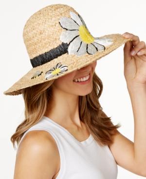 kate spade new york Raffia Daisy Sun Hat $118.00 AT vintagedancer.com