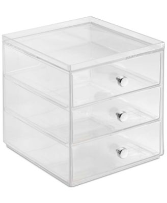 Interdesign 3-Drawer Makeup Organizer, Clear