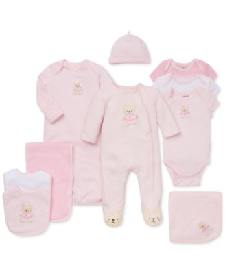 Baby Girls Sweet Bear Bodysuits 3-Pack