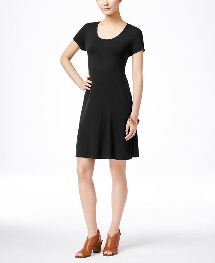 Style & Co - Petite Short-Sleeve Casual Dress