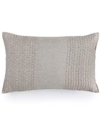 "Hotel Collection Eclipse Embroidered Stripe 12"" x 22"" Decorative Pillow, Only at Macy's"